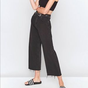 Urban Outfitters BDG Flood Jeans Black Distressed